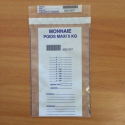 Monnaie - Pochette 5 kg avec colle permanente